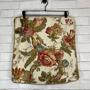 Pottery Barn Floral Pillowcases W/ Rope Detail - 2